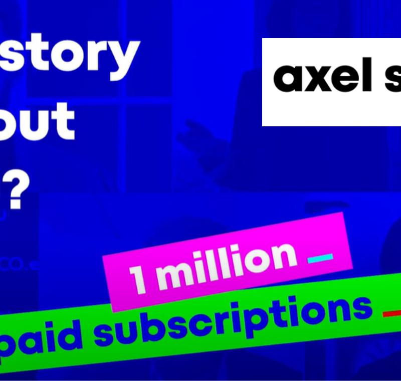 Axel Springer hits one million digital subscriptions in major milestone