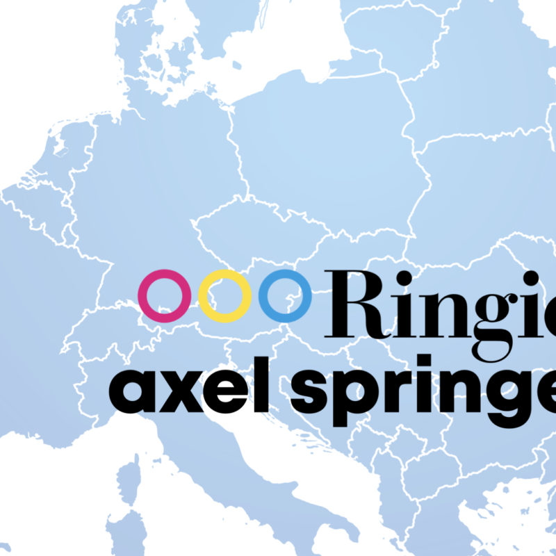 Ringier acquires the shares of Axel Springer in several Eastern European countries